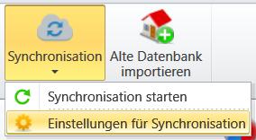 Synchronisationsmenü: